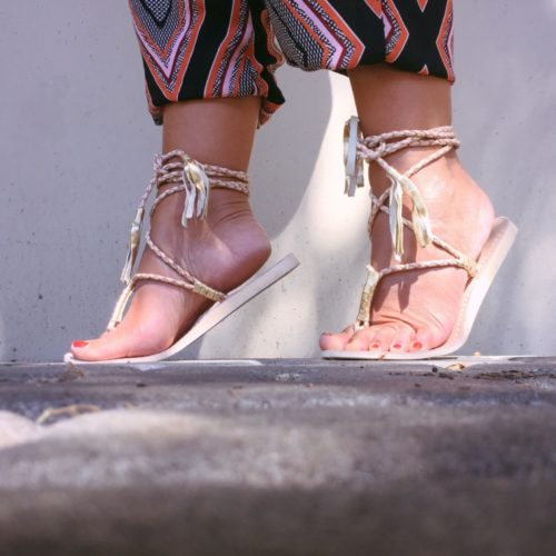 cocobelle lace up sandals | Anthroplogie