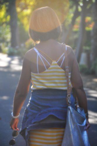Walking Away Stripe Dress with Denim Jacket