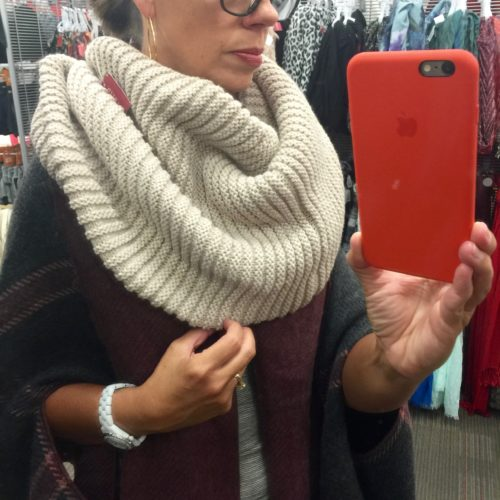 Look for Less on ASkSuzanneBell.com | Merona Cowl Snood