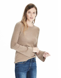 Bell Sleeve Sweater at Banana Republic, reviewed on AskSuzanneBell.com