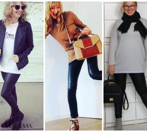 Over 40 Style: How to Wear Leather Leggings and Skirts