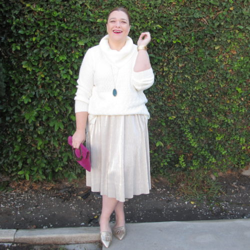 Janeane Metallic Skirt B | www.Designingfrommycloset.com