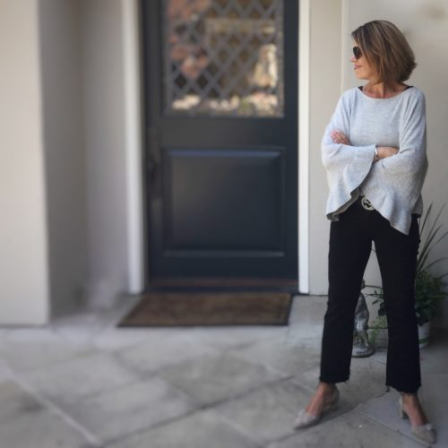 Classic Style With A Twist Bell Sleeves And Crop Flare Jeans