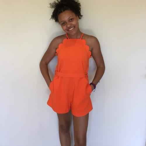 Orange maxi dress target collaboration