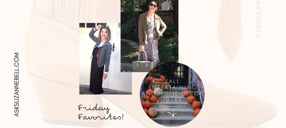 Friday Favorites | 5 Ways To Style A Slip Dress, Boots, Sale Picks + Home Inspiration