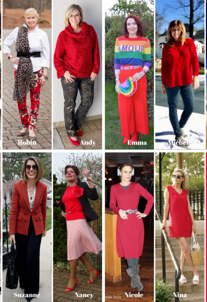 10 + Red Hot Outfit Ideas! A Stylish Monday Link-Up Party