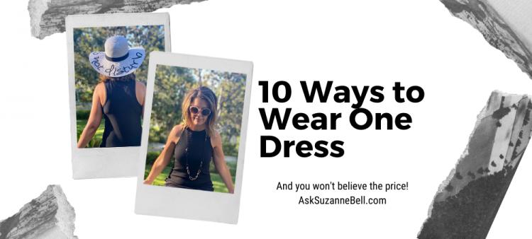 10 ways to wear one dress